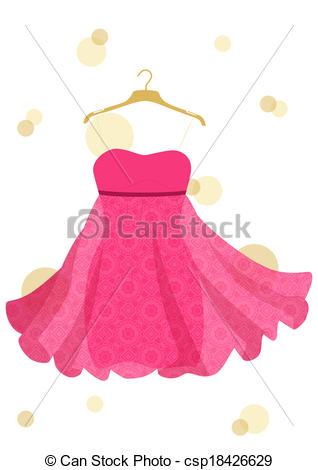 Dress clipart beautiful dress Vector beautiful Vector of beautiful