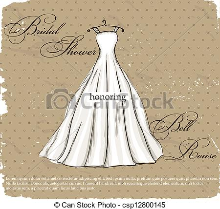 Gown clipart beautiful dress Wedding beautiful Vector Vector dress