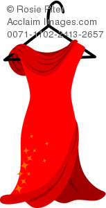 Red Dress clipart formal dress Gown Gown of Dress Formal