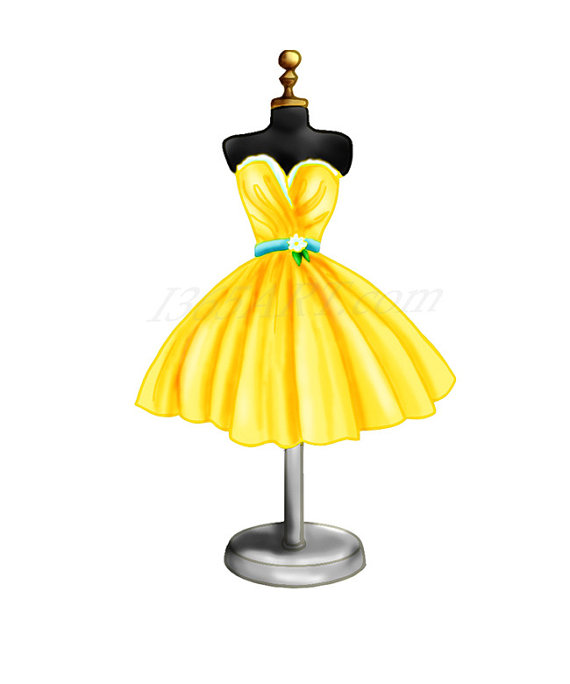 Gown clipart dress form Form digital Beautiful 50% Pack