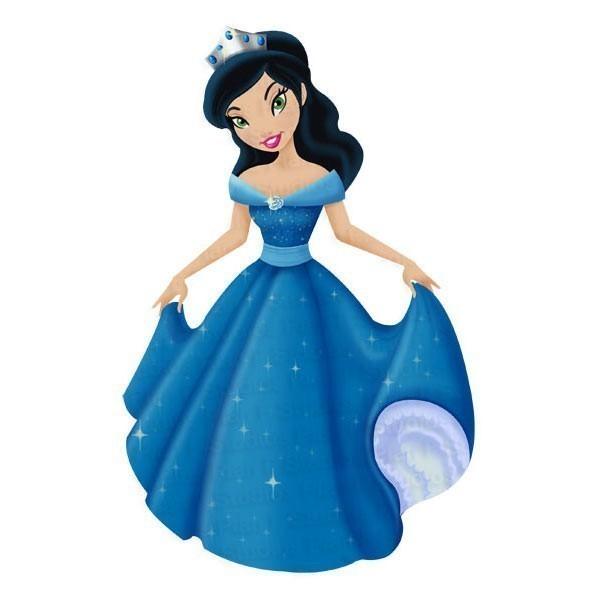 Figurine clipart blue Clipartix cliparts clip  Princess