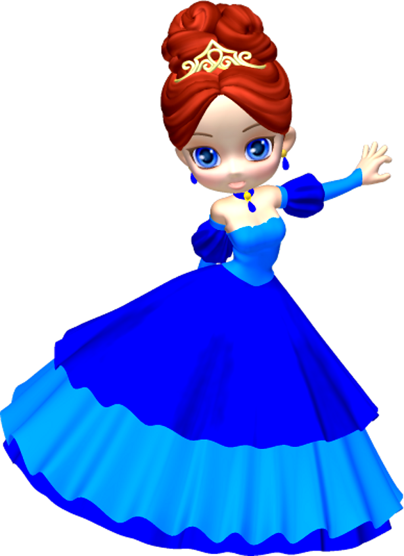 Dress clipart blue princess Poser by (20) PNG