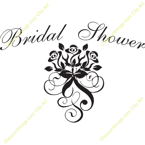 Dress clipart bridal shower Art for Bridal collection invitations