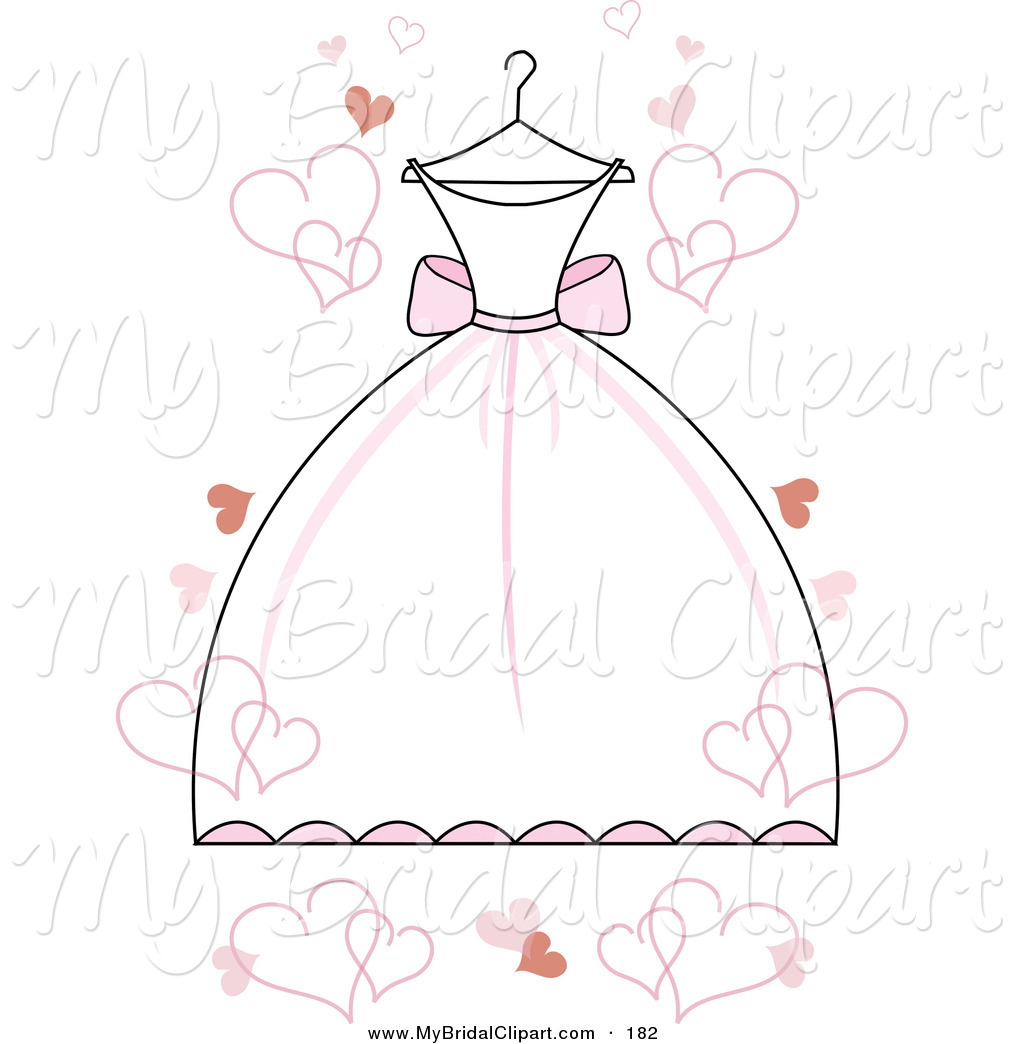Dress clipart bridal shower White Pink with Wedding Bridal