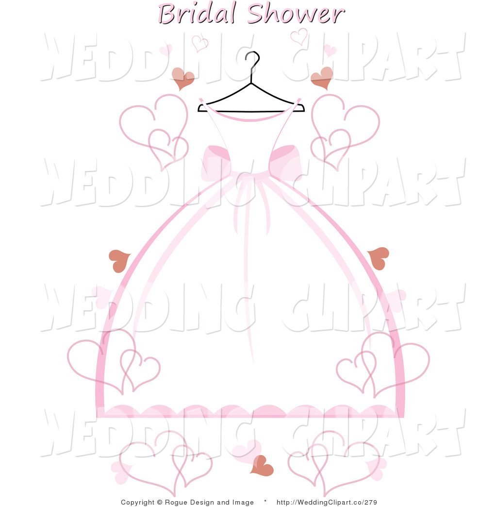 Dress clipart bridal shower Stock for Bridal collection invitations