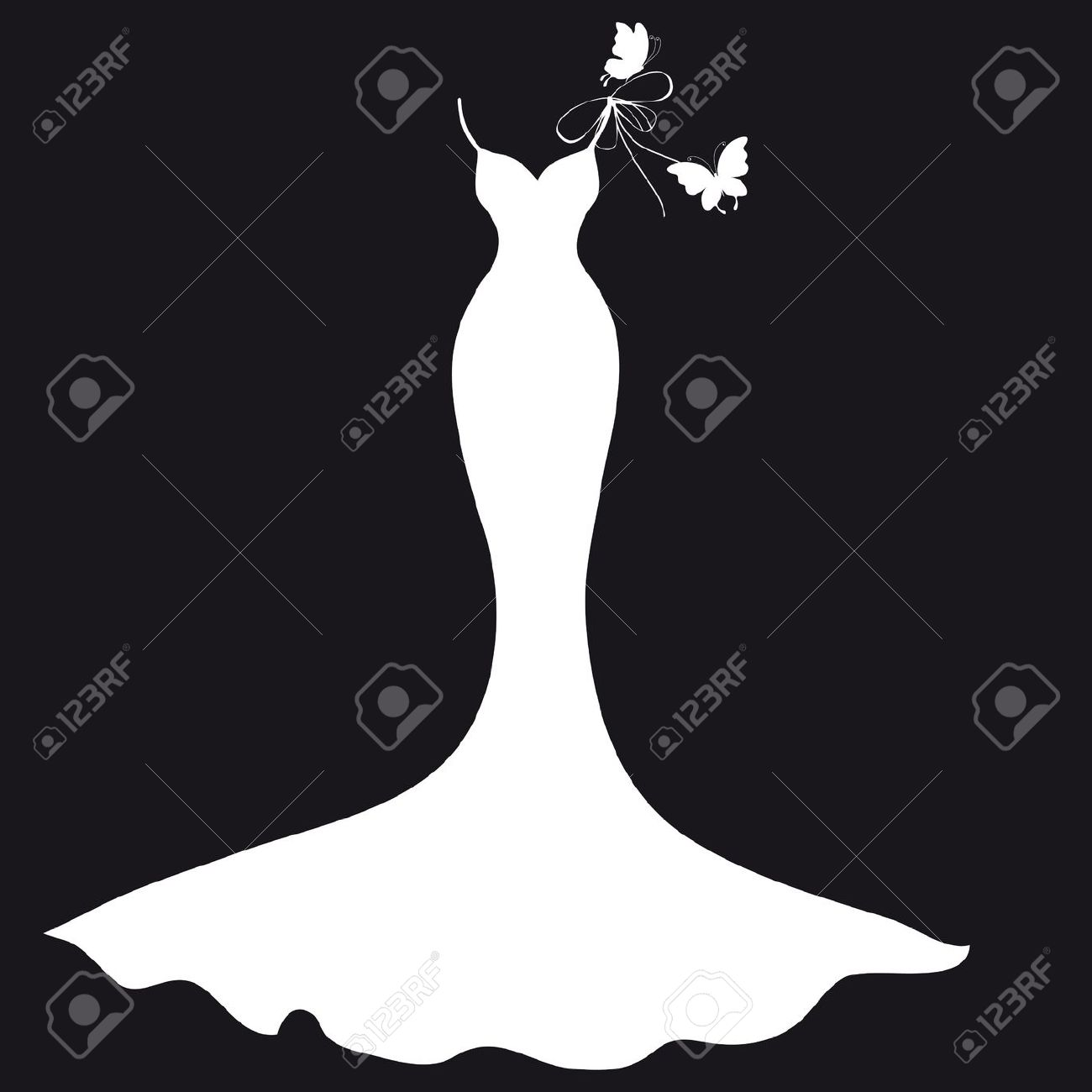White Dress clipart silhouette Art Clip Wedding Wedding Dress