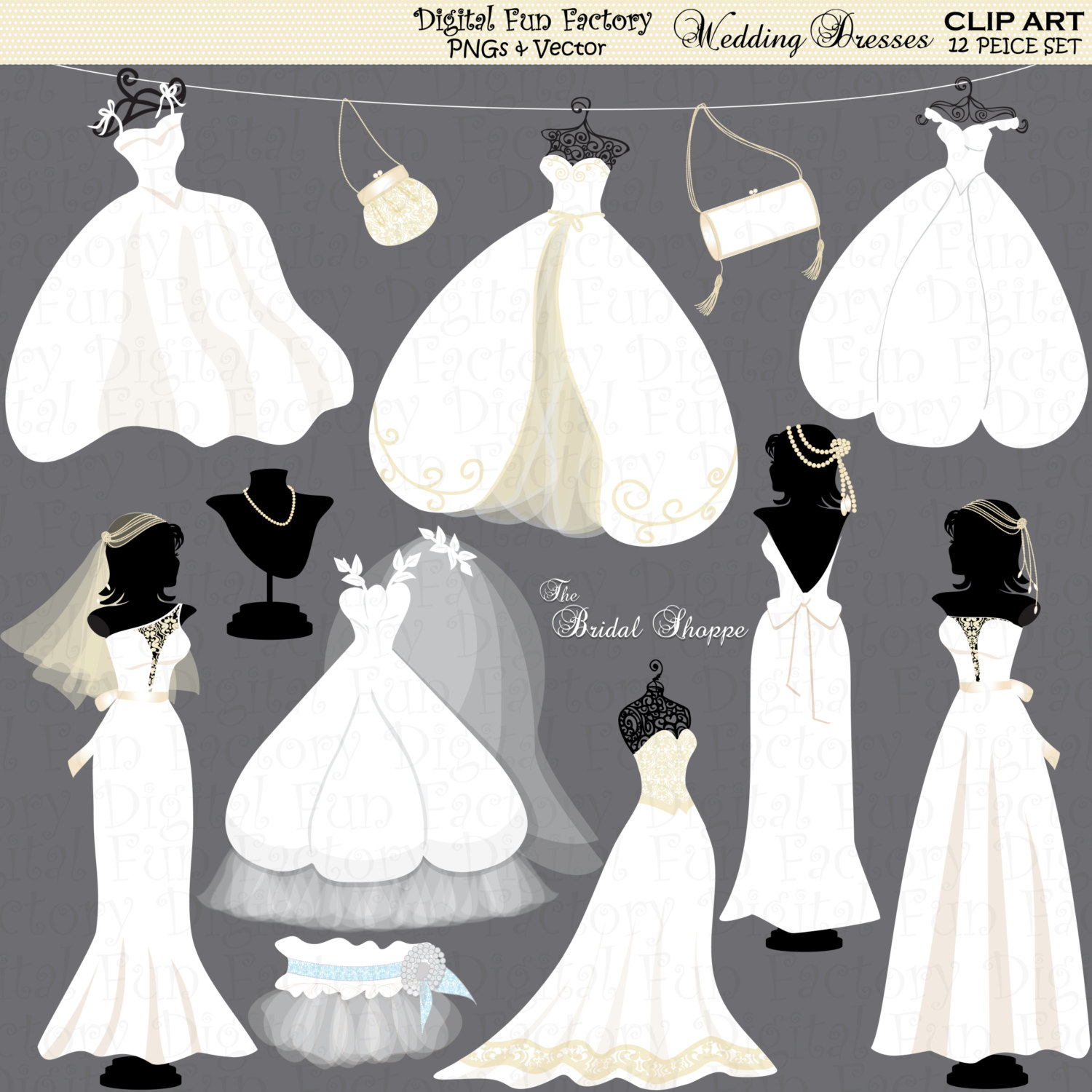 Bride clipart bridesmaid dress #8