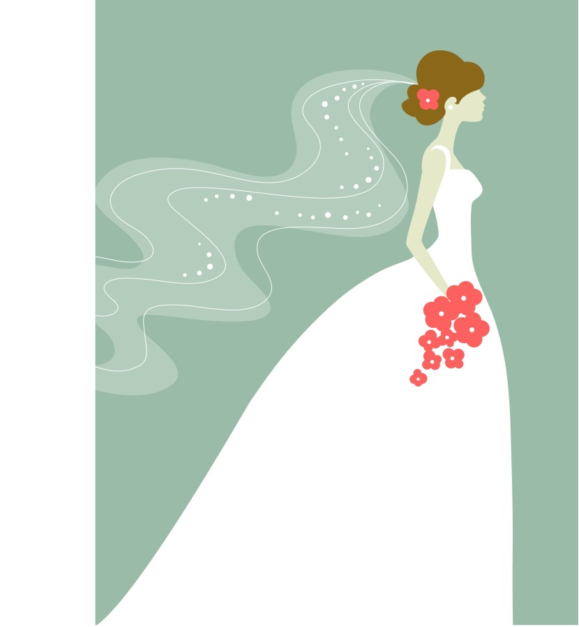 Gown clipart bride dress Wedding Clipart Cartoon Dress Art
