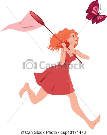 Dress clipart butterfly  Young csp18171473 Girl of