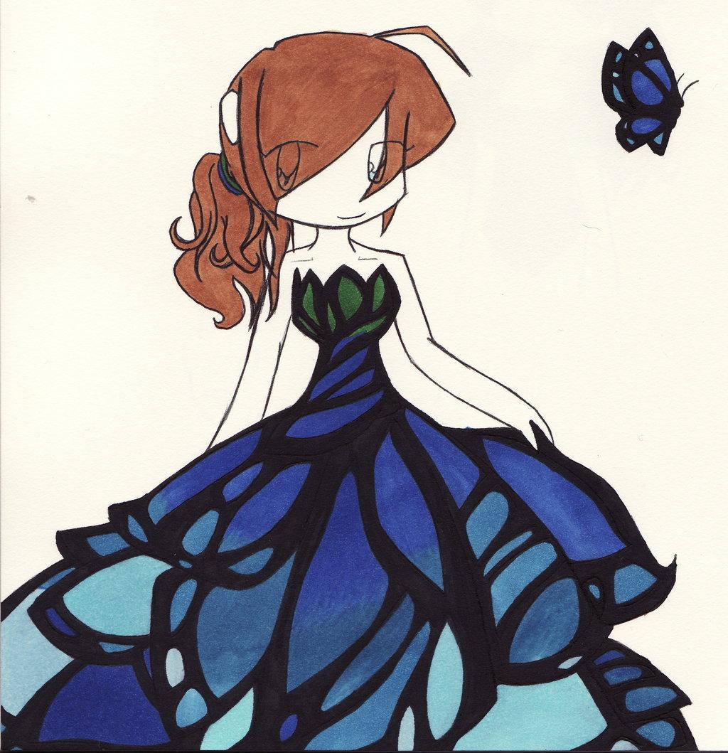 Dress clipart butterfly #8