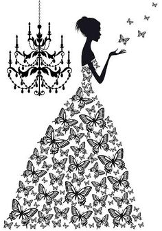Dress clipart butterfly Vector Butterfly Stitch Butterfly SugarMountainStitch