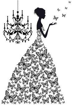Dress clipart butterfly #5