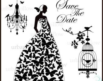 Dress clipart butterfly Art Bride art BUTTERFLY Png