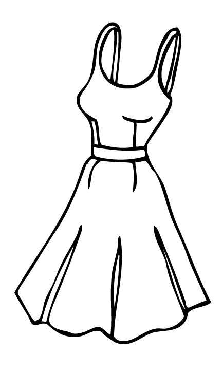 White Dress clipart cartoon Dress dresses_dressesss Dress_Other Cartoon Cartoon