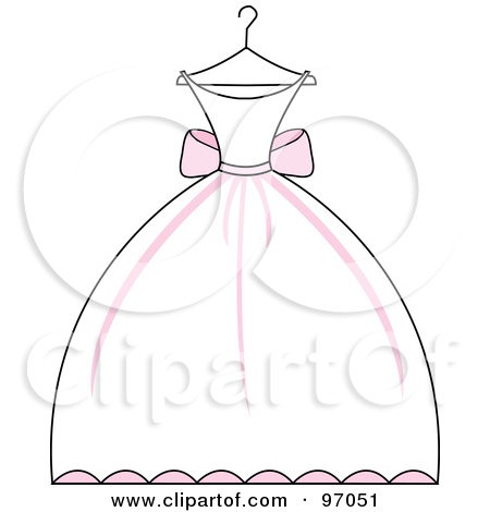 Gown clipart pink dress White (RF) of Free On