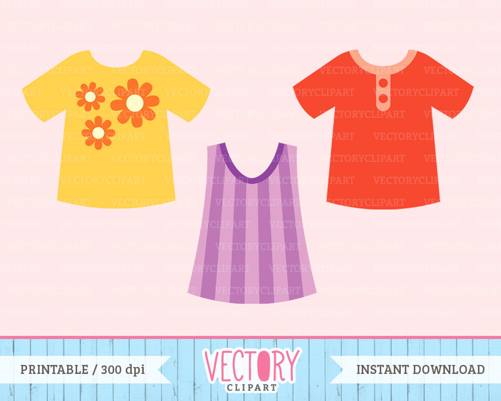 Dress clipart children's Digital a Children's is Clothes