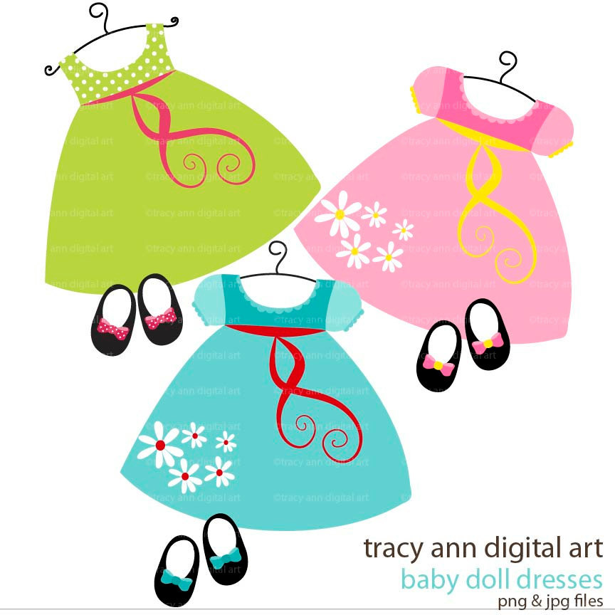 Dress clipart children's Toys girl baby up clipart
