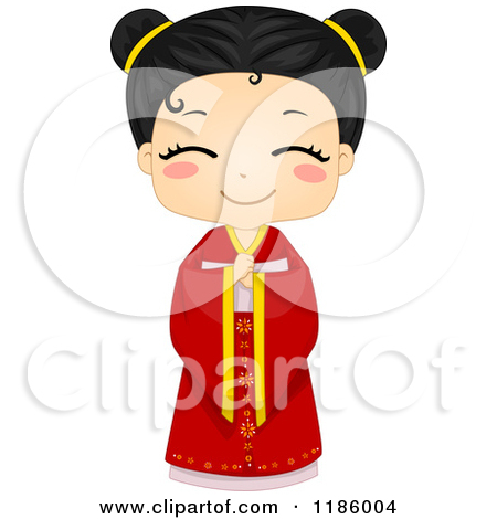Asian clipart chinese person Of  Clipart girl clipart
