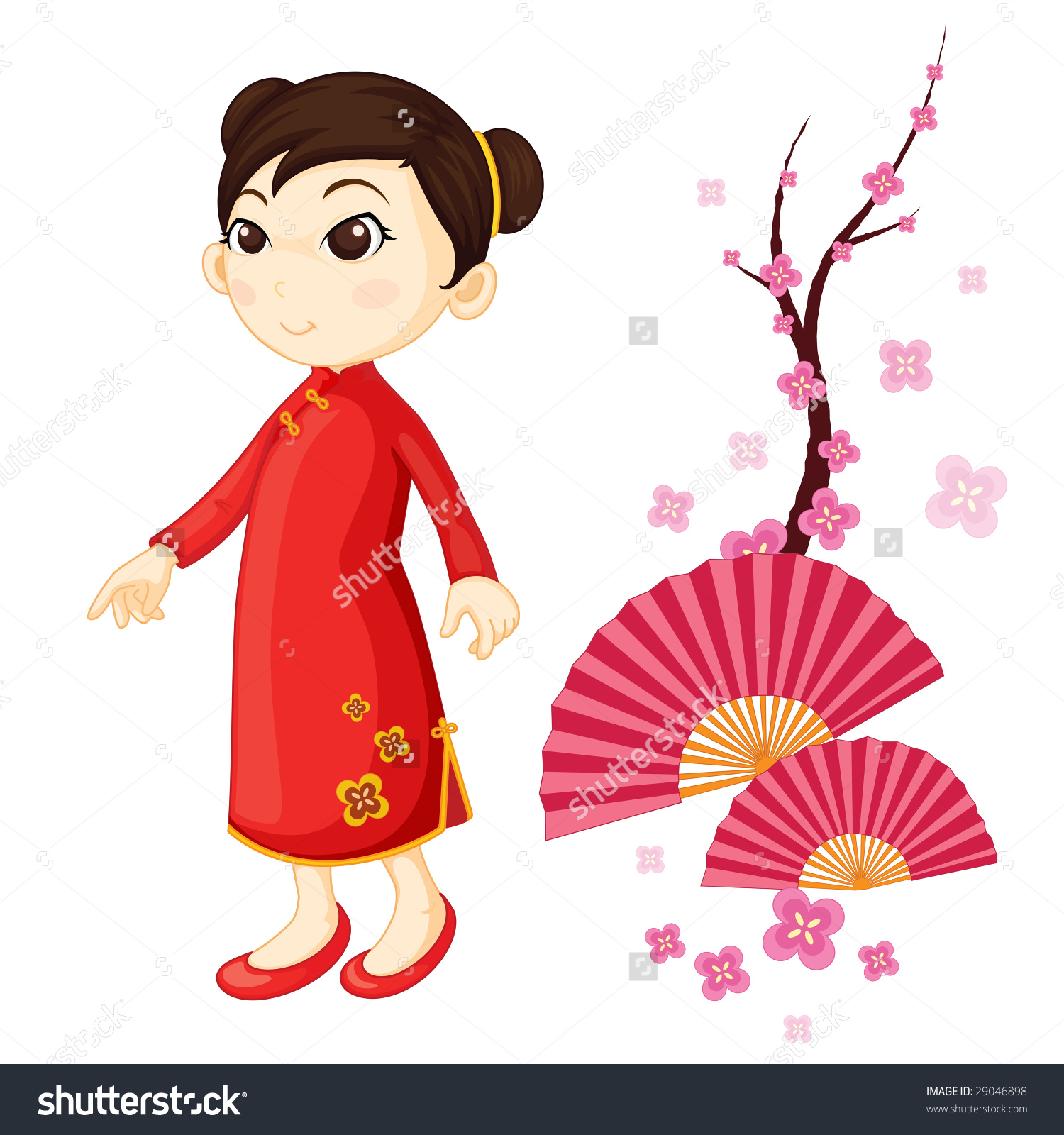 Kimono clipart japanese man Girl Illustration Stock Chinese collections