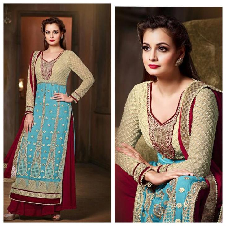 Dress clipart blue princess Trends Neck Churidar Premium Design