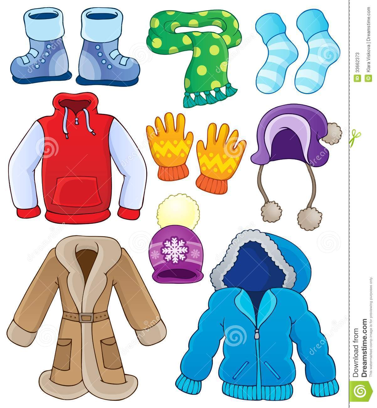 Coat clipart snow jacket Children Art Clothes Winter