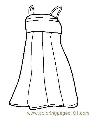 Dress clipart color Coloring Pages Coloring Page Dress