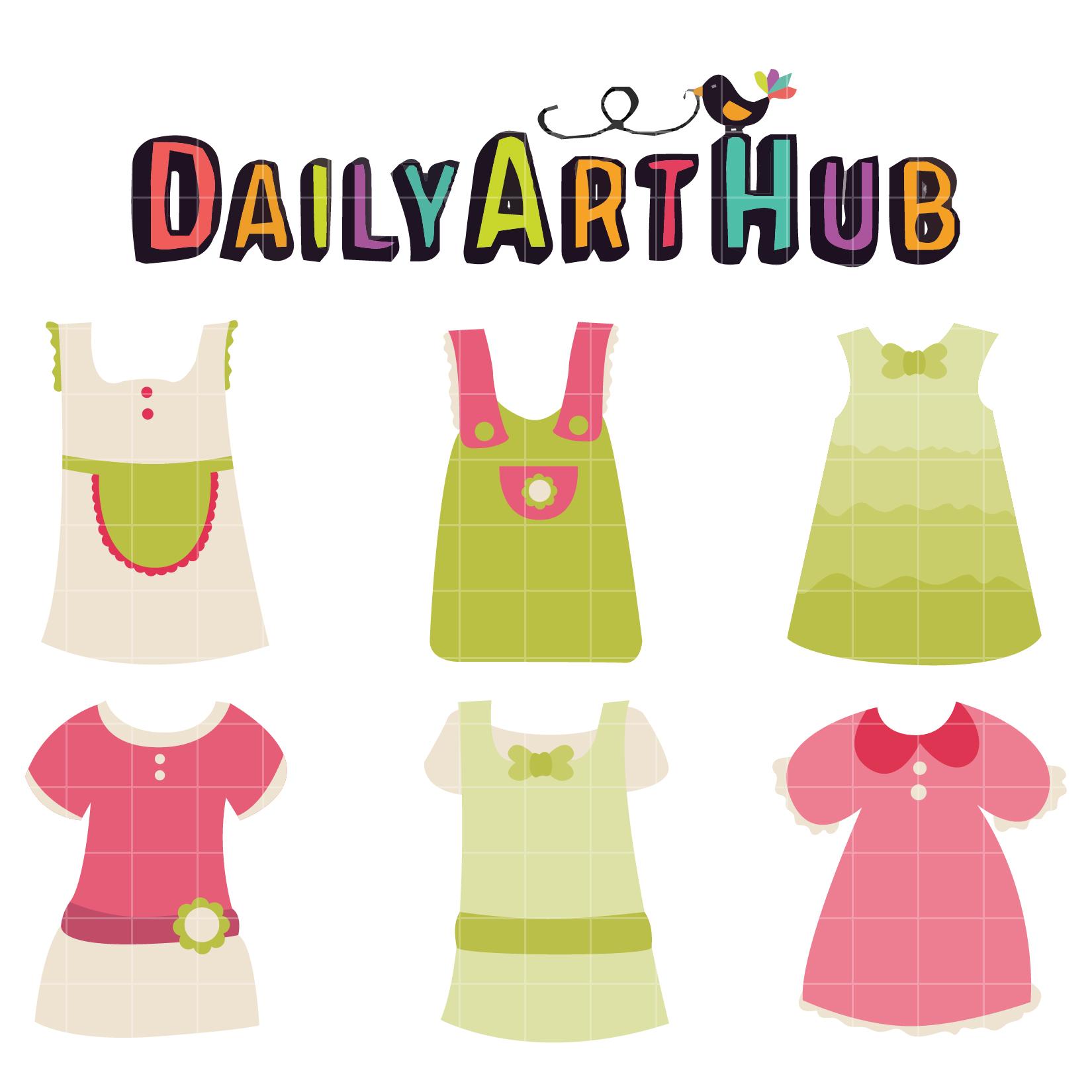 Dress clipart cute Dress Clip Dress Daily Set