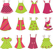 Dress clipart cute · Baby Collection Art Clip