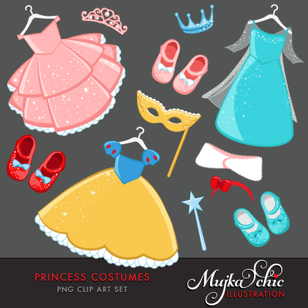 Gown clipart princess costume Costumes Princess  Clipart