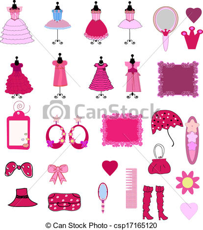 Dress clipart cute Accessories Cute of accessories and