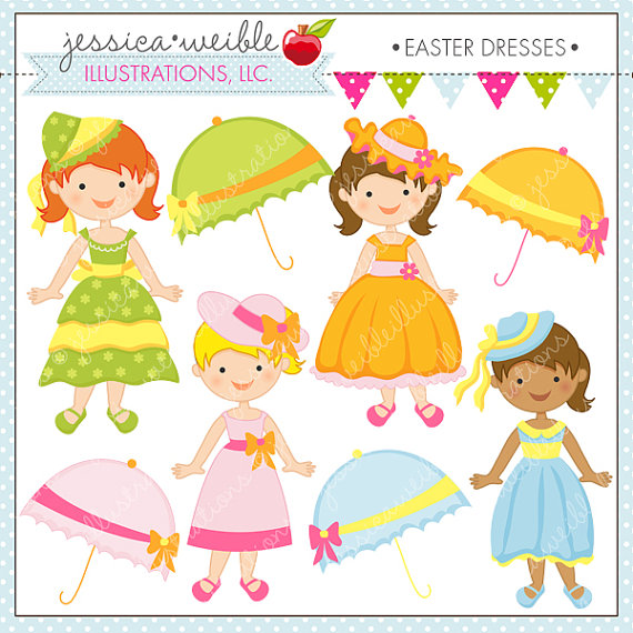Gown clipart dress mannequin Cute Digital Personal Easter Commercial