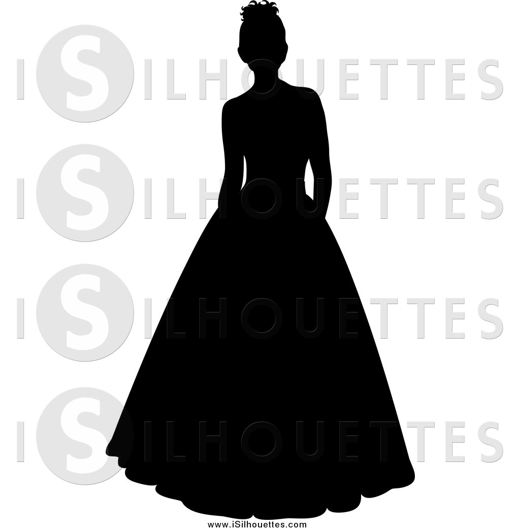 Gown clipart debutante Silhouetted Clipart Clipart a a