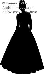 Gown clipart debutante A Clip Gown Image Image