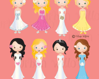 Wedding Dress clipart debutante Bridal Clip art Debutante in