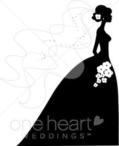 Wedding Dress clipart debutante Bridal kiss wedding clip for