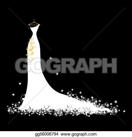 Gown clipart debutante On  dress white Wedding