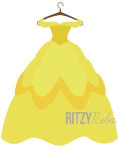 Dress clipart disney princess dress Clipart putting clipart dress Belle