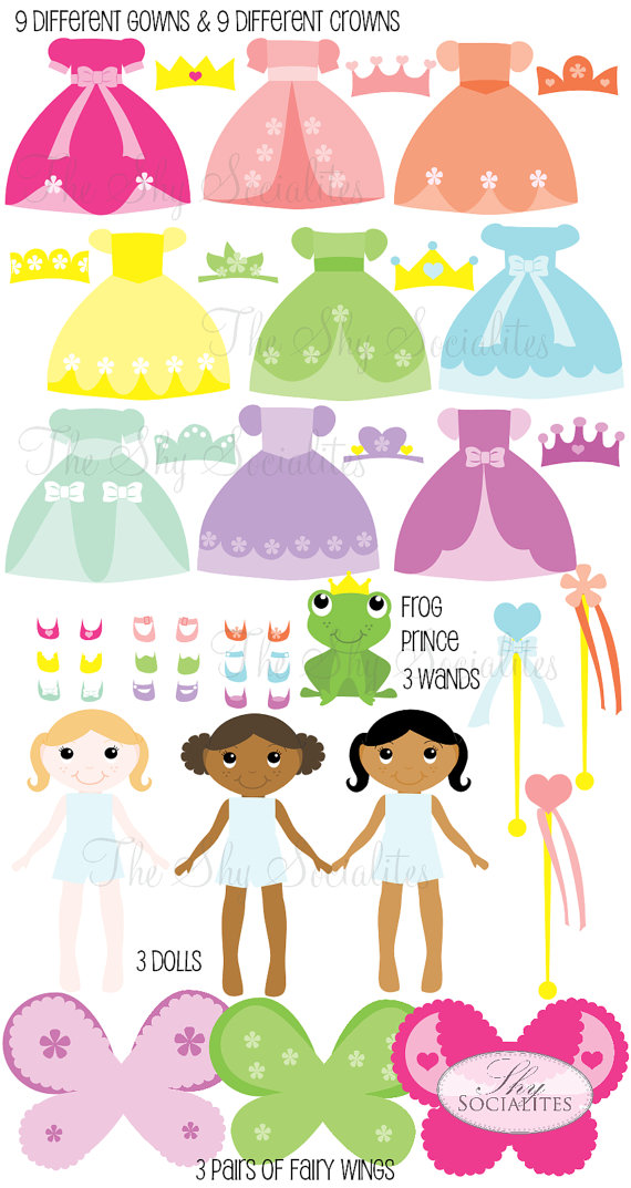 Match clipart bad habit Dress set Princess Princess up