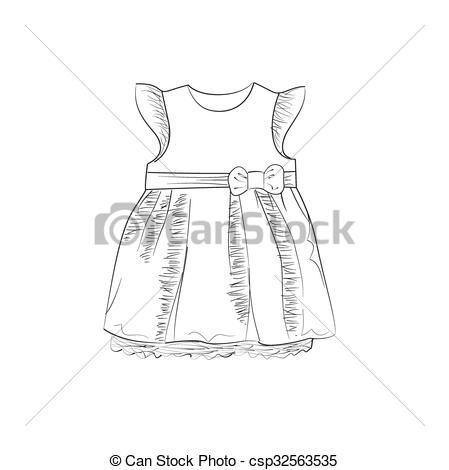 White Dress clipart baby Hand Vectors  of Dress