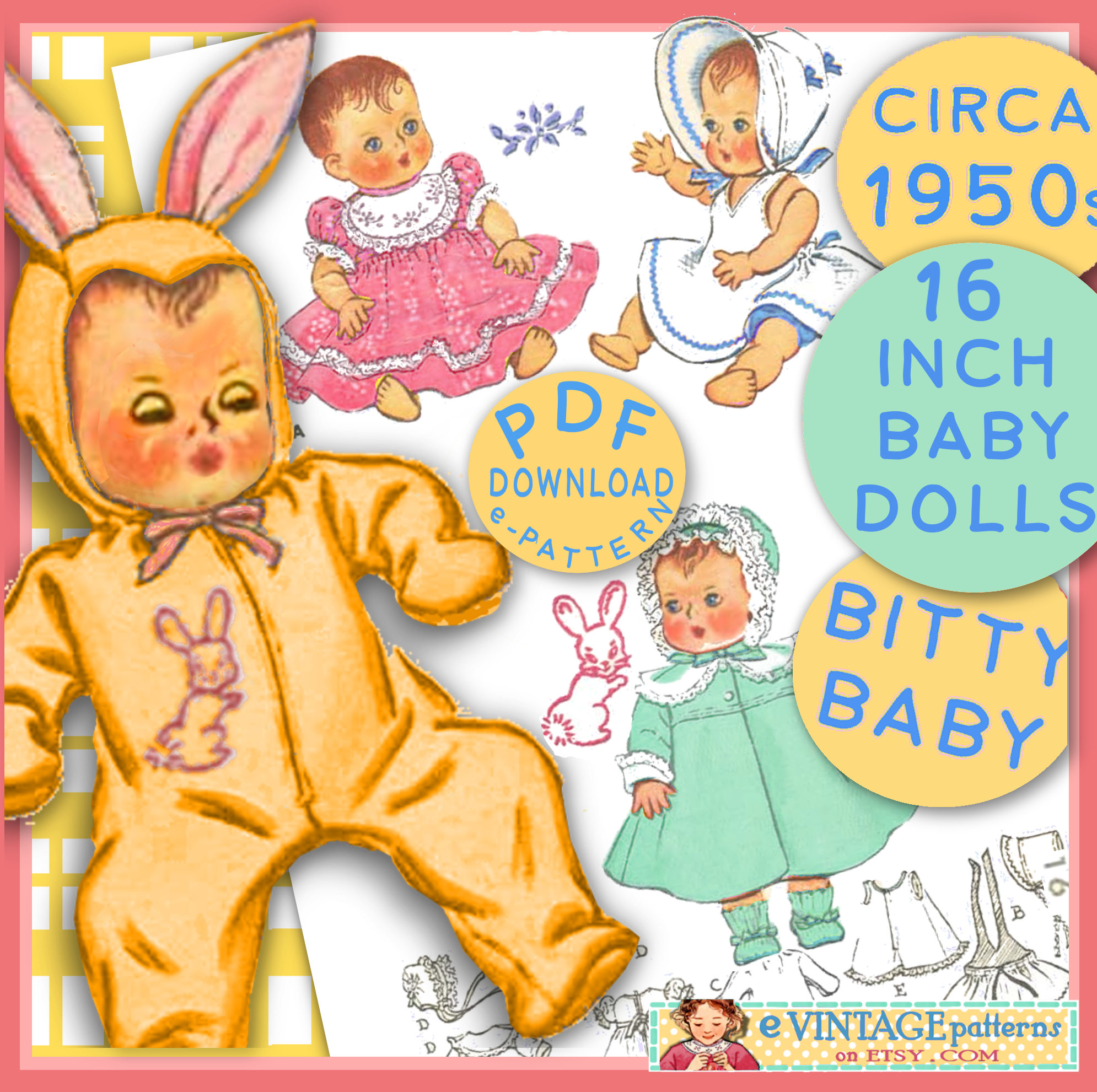 Yellow Dress clipart drees BITTY inch Bunny  is