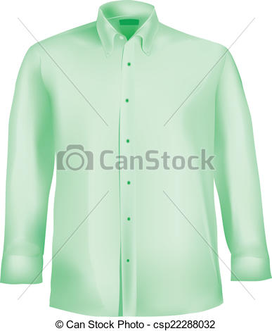 Dress clipart dress shirt Shirt Collar Color Green EPS