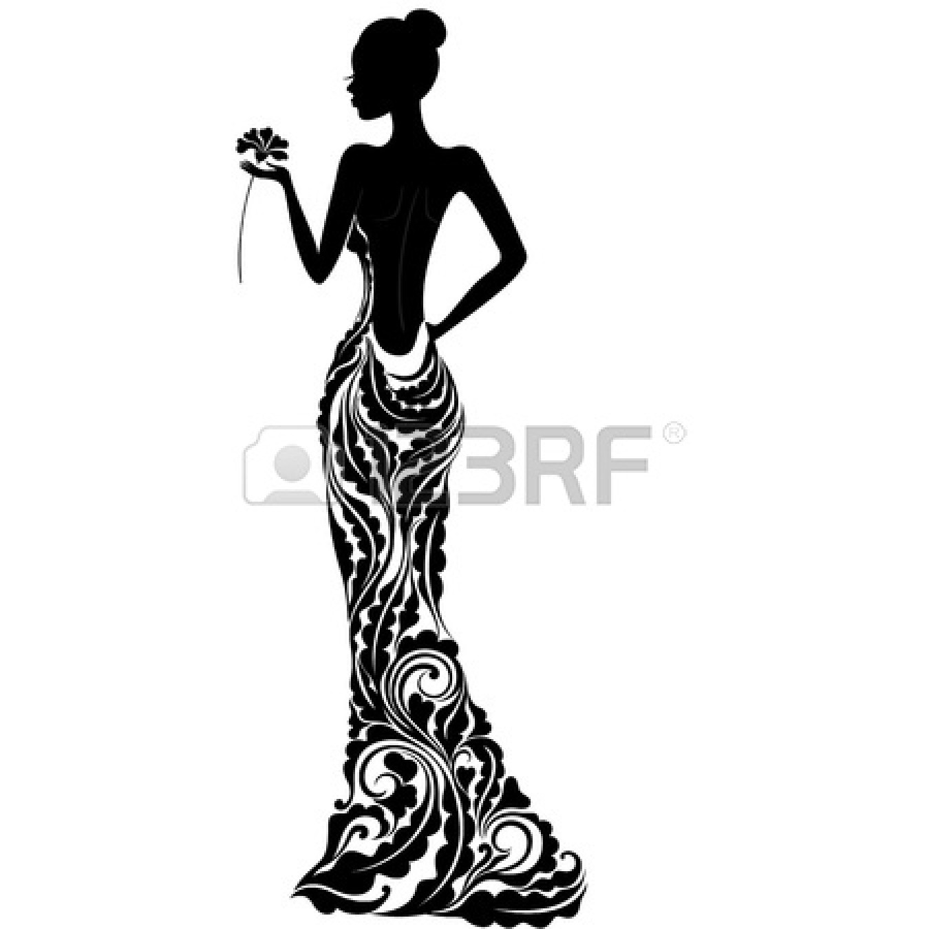 Bride clipart ball gown #12