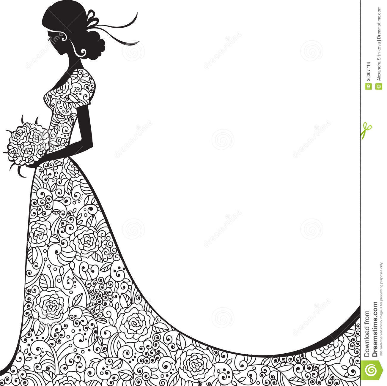 Gown clipart elegant dress White and Mandalas Поиск Card
