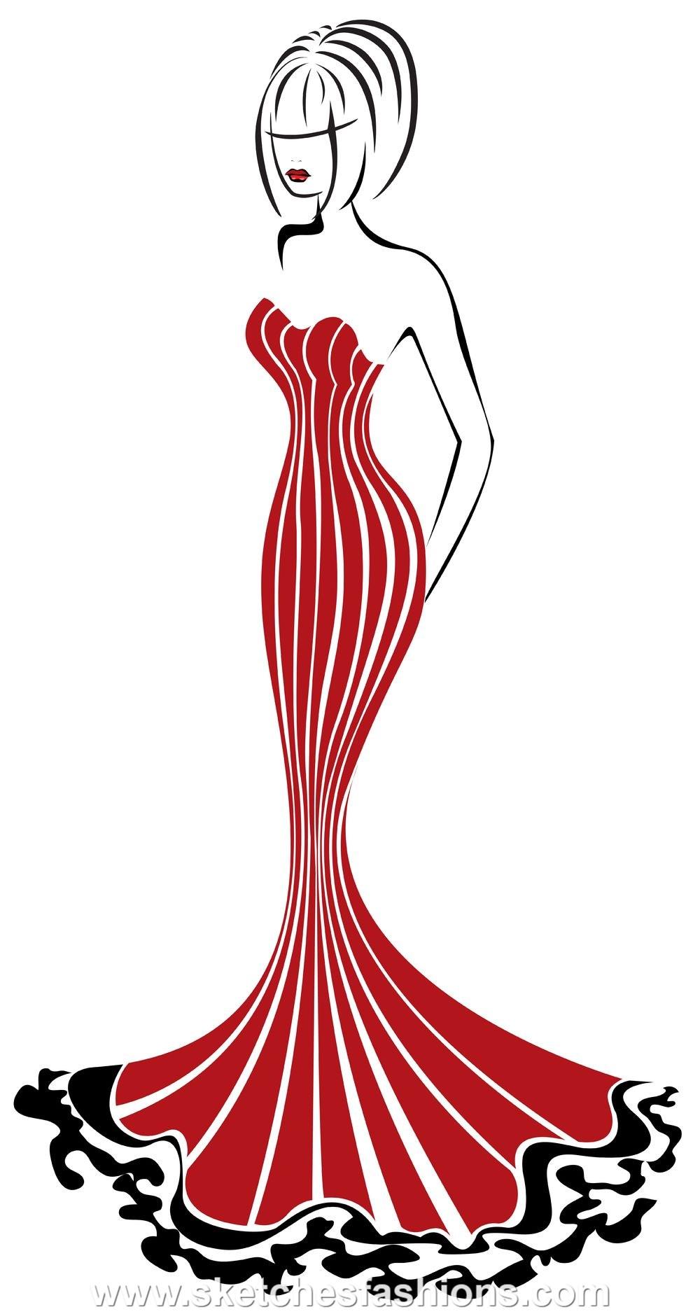 Classy clipart diva Diva Gown wedding gown art