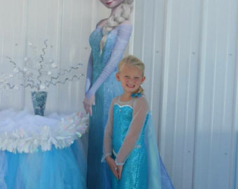 Dress clipart elsa dress Children anna girl Elsa costume