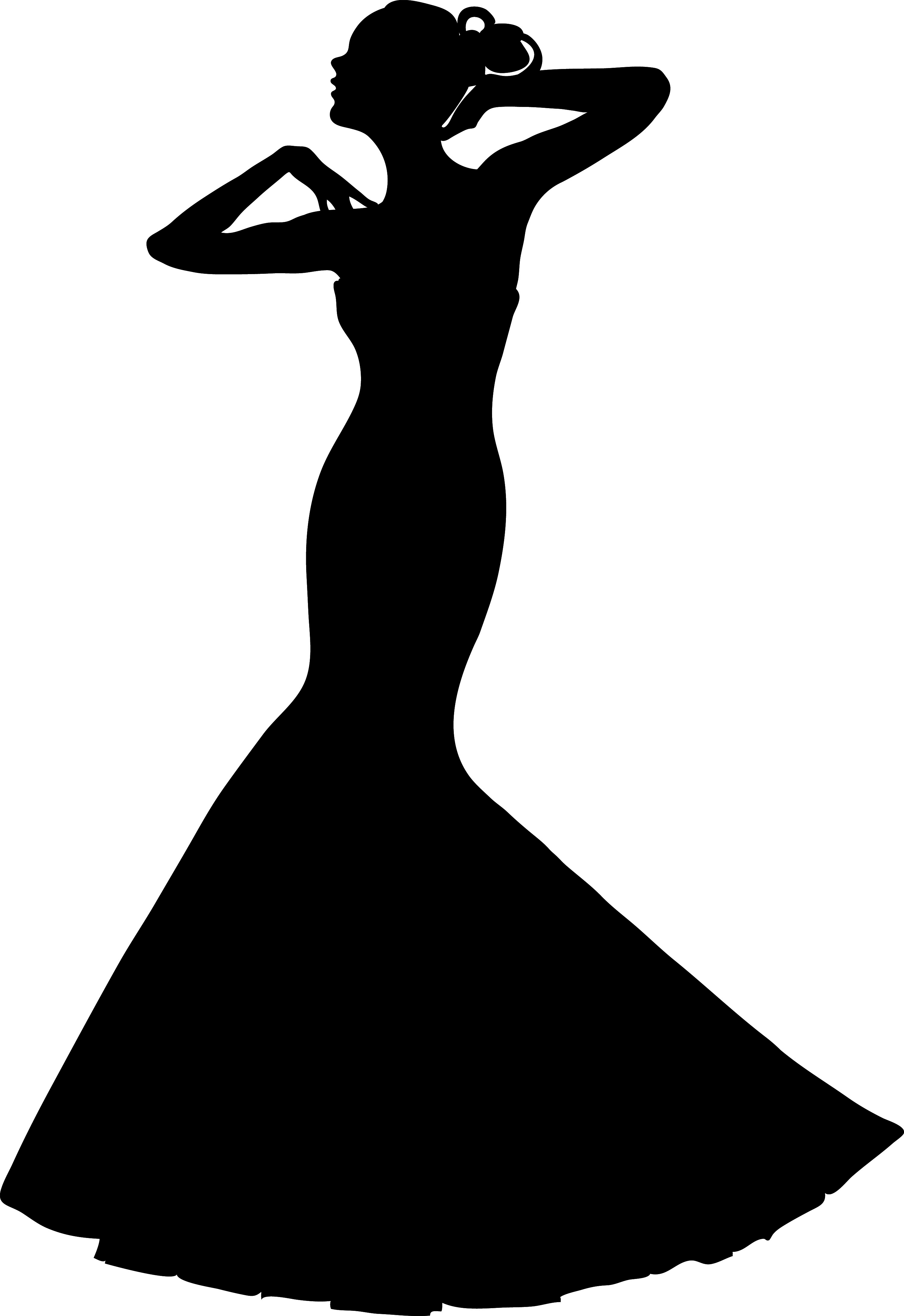 Gown clipart silhouette Silhouette Clipart Evening dress collection