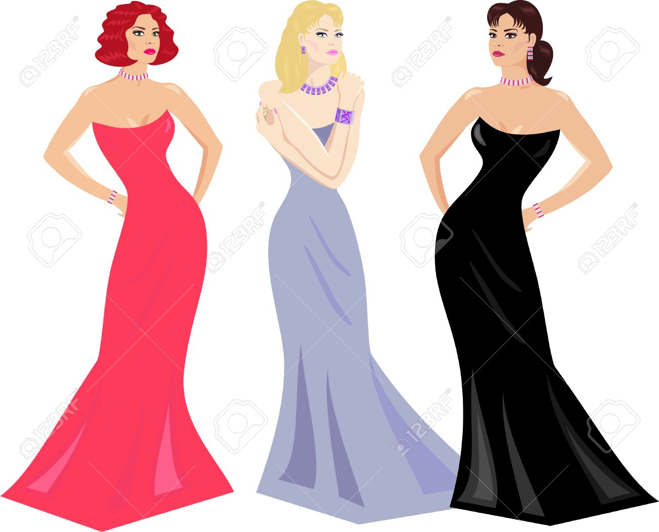 Gown clipart evening gown Dress Evening Gowns Makeup And