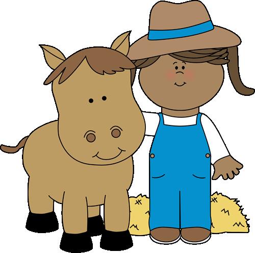 Chick clipart farm animal A with Farm animal horse