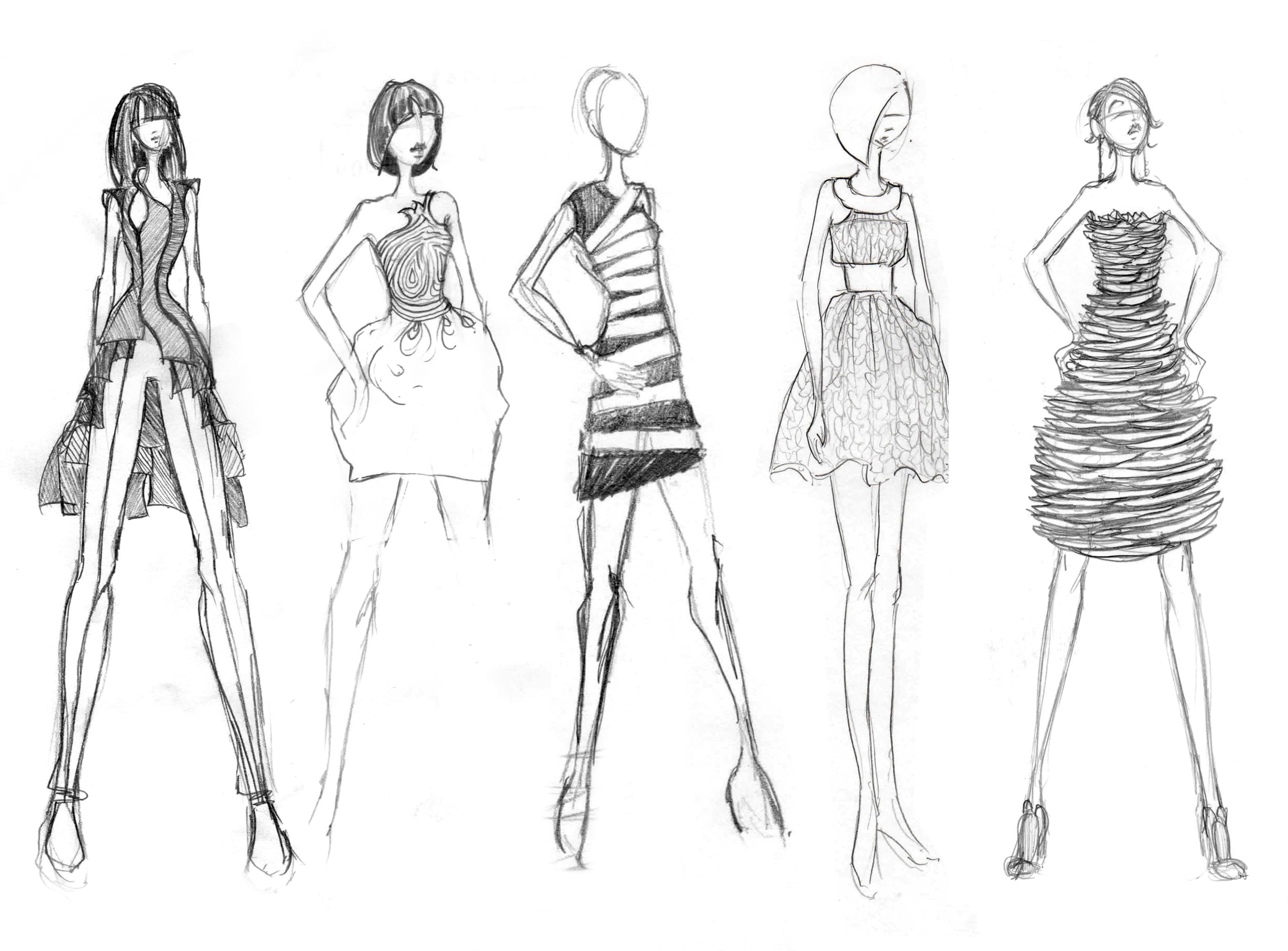Sketch clipart fashion design Little creative Fashion  fashion