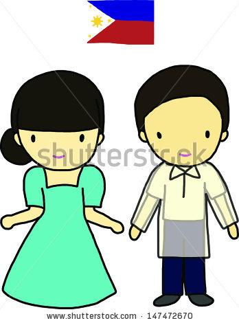 Dress clipart filipiniana Saya clipart Clipground Saya Clip